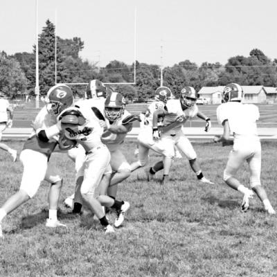 Gothenburg Football Team Working Hard This Fall For The New Season.