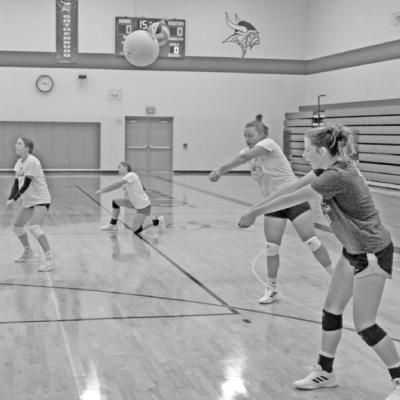 Gothenburg Swede Volleyball Team Working Hard During Practice In the New Season.