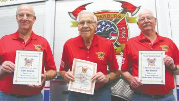 Franzen Brothers Honored for 50 years of service with the Gothenburg Fire Department