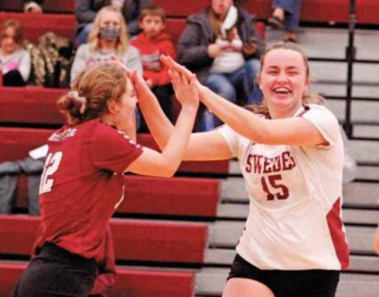 Swede Volleyball Running Post Season Play